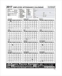 Calendar Formats Free Employee Attendance Calendar Rome Fontanacountryinn Com
