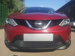 Защита радиатора Nissan Qashqai 2014-2019 black <b>OPTIMAL</b> ...