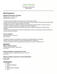 Respiratory Therapist Resume Sample Resume Cover Letter Template
