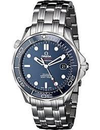 amazon co uk omega watches omega men s steel bracelet case automatic blue dial analog watch