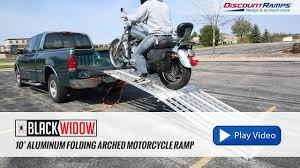 Black Widow Aluminum Folding Arched Motorcycle Ramp - 10' Long - YouTube