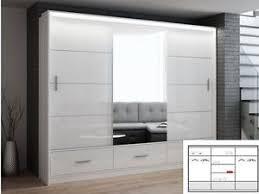 mirror wardrobe. sliding-mirror-wardrobe-marsylia-whitegloss-6-82ft-208cm- mirror wardrobe