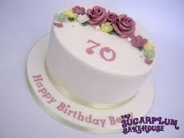 Simple 8 Inch 70th Birthday Cake Cake By Sam Harrison Cakesdecor
