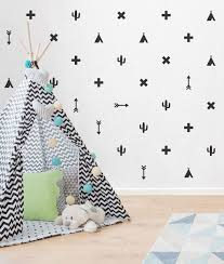 tribal wall decals pack black