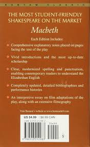 macbeth bantam classic william shakespeare david bevington  macbeth bantam classic william shakespeare david bevington joseph papp 9780553212983 amazon com books