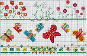 bright borders part 1 free cross stitch pattern from www