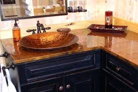 hammered copper countertops custom copper sink set into a burnt hammered copper how to make hammered hammered copper countertops