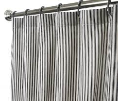 com extra long shower curtain unique designer fabric black and white striped ticking 96 inches home kitchen