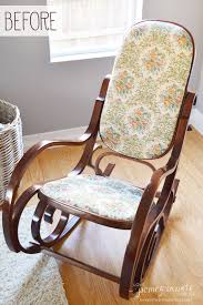 bentwood rocking chair makeover