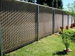 Image Fence Panels Vanshavali Black Chain Link Fence With White Slats Plastic For Near Me