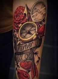 Compass Tattoo 100 Možností Pro Muže A Dívky Fotky Hodnoty Náčrtky