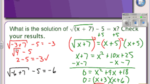 6 5 part 2 solving radical equations with variable on both sides