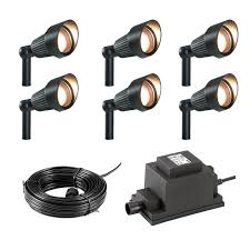 techmar plug and play focus garden spotlight kit 6 lights