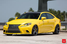 lexus lfa black rims. lfa yellow lexus is 350 sits on vossen wheels lfa black rims