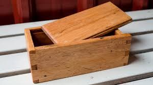 making a rustic wood storage gift box diy