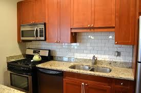 Kitchen Backsplash Ideas For A Green Subway Tile Kitchen Backsplash Wonderful