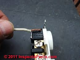 2 wire no ground electrical outlet installation wiring details how also see backwired electrical receptacles wire strip gauge © d friedman at inspectapedia com