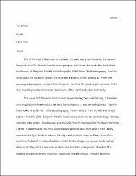 ben franklin essay milillo tim milillo cotsell engl one of ben franklin essay milillo 1 tim milillo cotsell engl 204 one of the most brilliant men to ever walk the earth was a man known by the of benjamin