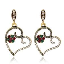 Wedding Earrings Design Hot Item Wholesale 2018 Top Design Women Fashion Jewelry Accessories Wedding Earrings Fashion Women Ethnic Drop Earrings