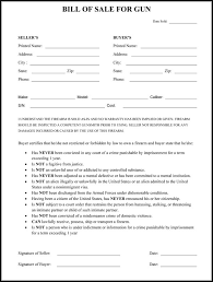 example of bill of sale gun bill of sale form