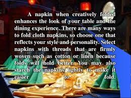 Table Napkin Folding