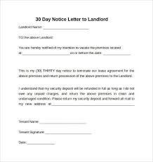 example of a notice letter 30052017 sample letter 30 day notice to vacate