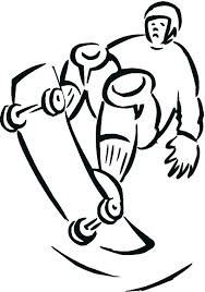 skateboard coloring page logo pages printable design your own boy skateboarding color