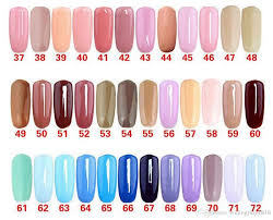 56 Unmistakable Gelish Nail Colour Chart