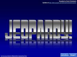 Jeopardy Powerpoint Template Magnificent Template By Kevin Dufendach Updates At Not In Any Way Ppt Download