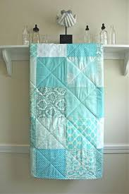 968 best Quilt images on Pinterest | Easy quilts, Crafts and ... & Baby Quilt - Pastel Aqua - Aqua, White, and Ivory - Boy or Girl Adamdwight.com