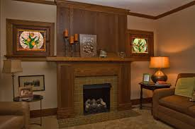 custom made oak arts crafts mantel