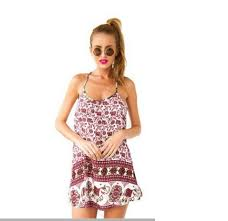 Krátké Dámské Letní šaty K Moři Za Nízké Ceny červené Letní šaty