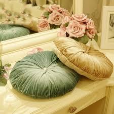 38cm elegant luxury european velvet decorative round pumpkin green