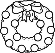 Christmas Wreath Coloring Pages To Print Swifteus