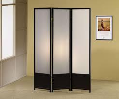 Folding Screen Black Finish 3 Panel Folding Screen Room Divider Ebay