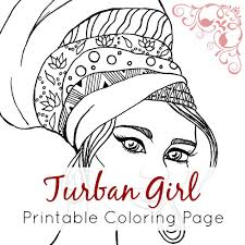 Small Picture African Girl Coloring Page African Girl with Turban