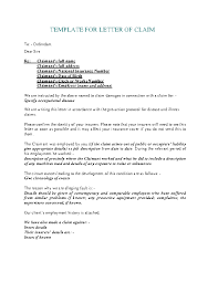 Template For Letter Of Claim Pdfsimpli