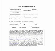 Letter Employment Verification Beautiful Employment Verification Letter Top Form Templates