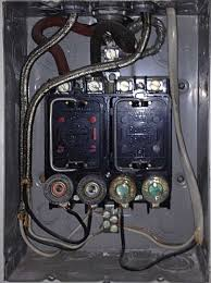 old meter box covers electrical page 2 diy chatroom home old meter box covers upstairs fuse panel open jpg
