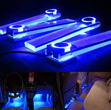 interior led lighting. Floor Led Lighting. Blue 12v 4 In 1 Car Charge LED Interior Decoration Decorative Lighting