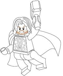 Lego Avengers Coloring Pages Coloringrocks