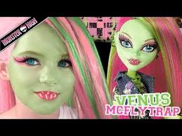 venus mcflytrap monster high doll costume makeup tutorial for cosplay or emma shows you