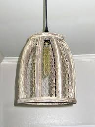 Wire Pendant Light Chicken Wire Farmhouse Small Pendant Light Out Of The Woodwork