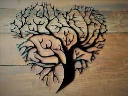 tree metal wall decoration