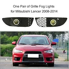 online get cheap mitsubishi fog lights aliexpress com alibaba group Mitsubishi Fog Light Wiring Diagram one pair of bumper grille fog lights led lamp with wiring switch kit for mitsubishi lancer mitsubishi triton fog light wiring diagram