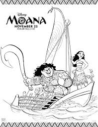 Small Picture Disneys Moana Coloring Pages and Activity Sheets Printables