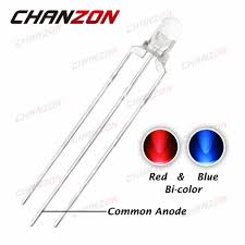 CHANZON <b>100pcs 3mm LED Diode</b> Blue Red Common Anode ...