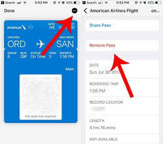 add a boarding pass to apple wallet