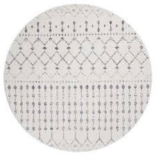blythe grey 8 ft x 8 ft round area rug