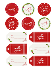 Fine Print  Holly Jolly Gift Tags  Camille StylesChristmas Gift Tag Design